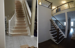 climbing stairs Before and after