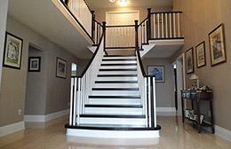 Wooden staircase renovation Burlington