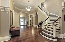Curved Wooden Staircase