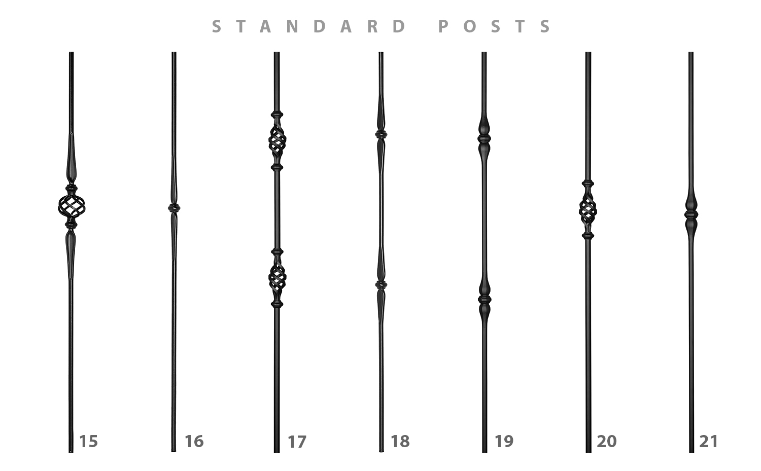 Metal pickets - set 3